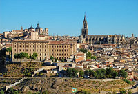The spire of Toledo Cathedral dominating the skyline
