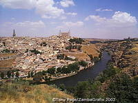 A view of Toledo from across the Tagus River