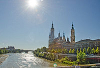 Basilica del Pilar on the banks of the Ebro