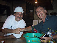 Tony and the man himself - he's a Tahitian institution!