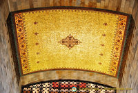 Ceiling inlaid with gold mosaics