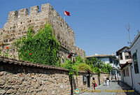 A tower of the old Antalya city wall