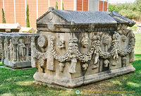 Aphrodisias was famous for its school of sculpture there are many sarcophagi decorated with with lively reliefs