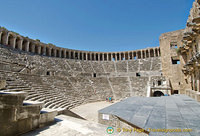 Aspendos Theatre is one of the most well-preserved Roman theatres