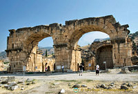 The Basilica Bath was converted into a church around 6th century AD