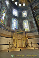 View of the Hagia Sophia mihrab